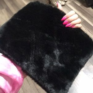 Handbags - Fuzzy black clutch